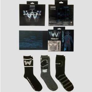 3 Westworld Men's crew socks K205